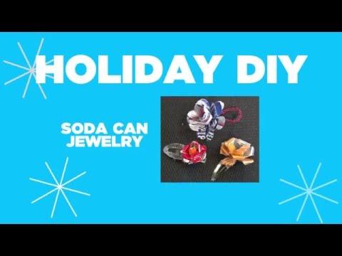 Holiday DIY: Soda Can Jewelry