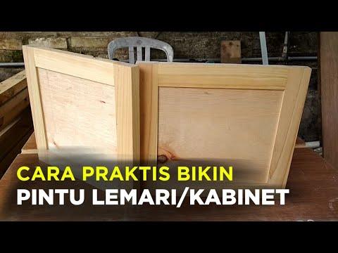Cara Cepat Membuat Pintu Lemari Bufet Kabinet Dari Kayu Bekas Youtube