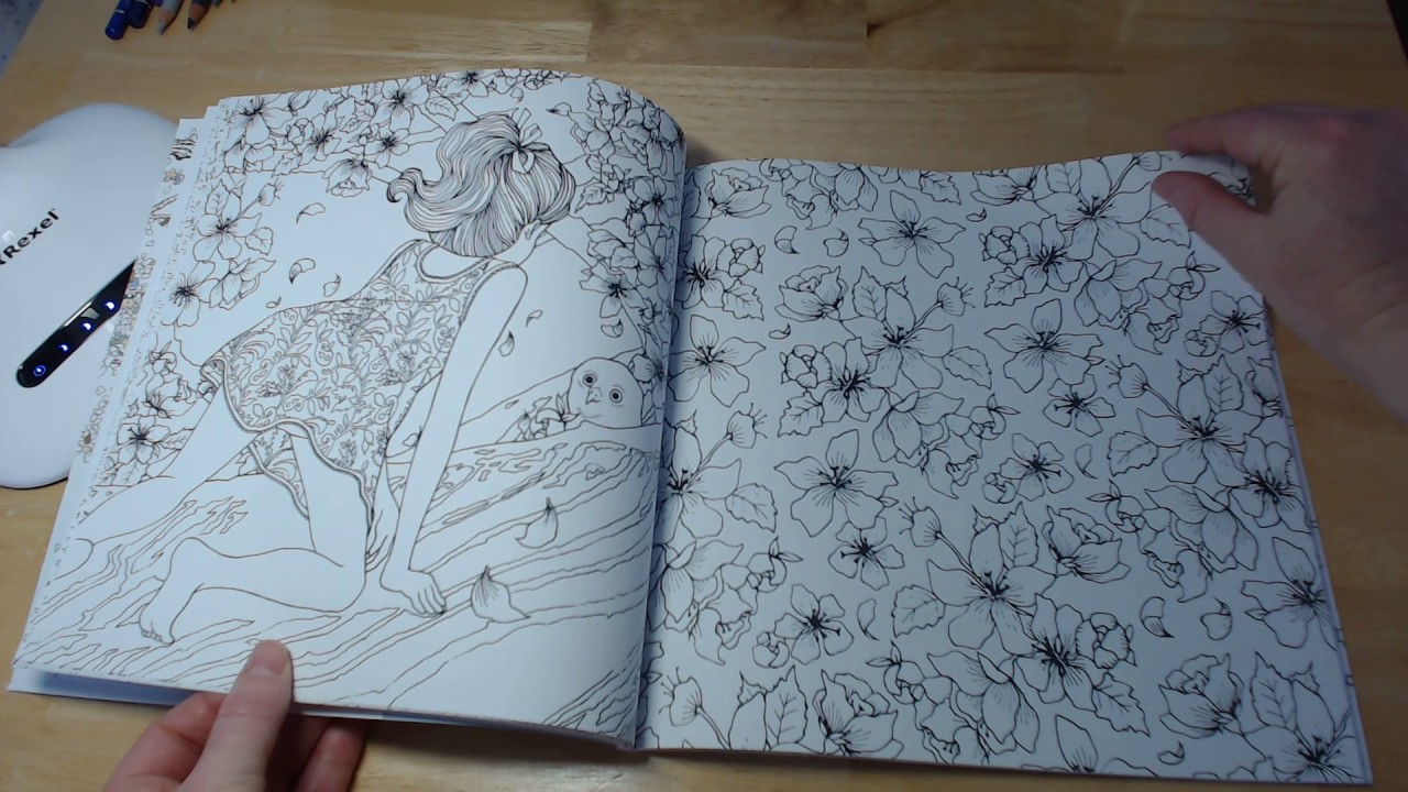 Daria Song The Time Garden Colouring Book Flip Through