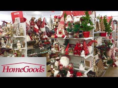 HOME GOODS NEW CHRISTMAS 2019 CHRISTMAS DECORATIONS DECOR SHOP WITH ME SHOPPING STORE WALK THROUGH