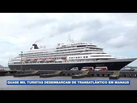 Temporada de cruzeiros. Quase mil turistas desembarcam de transatlântico em manaus