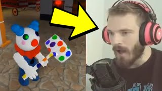 PEWDIEPIE PLAYING PIGGY ON HIS LIVESTREAM!! *RageQuit* | Roblox Piggy