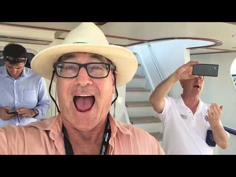 Horns at end of Palm Beach Boat Show Randall Burg, Your Concierge Yacht Broker, lovethatyacht.com