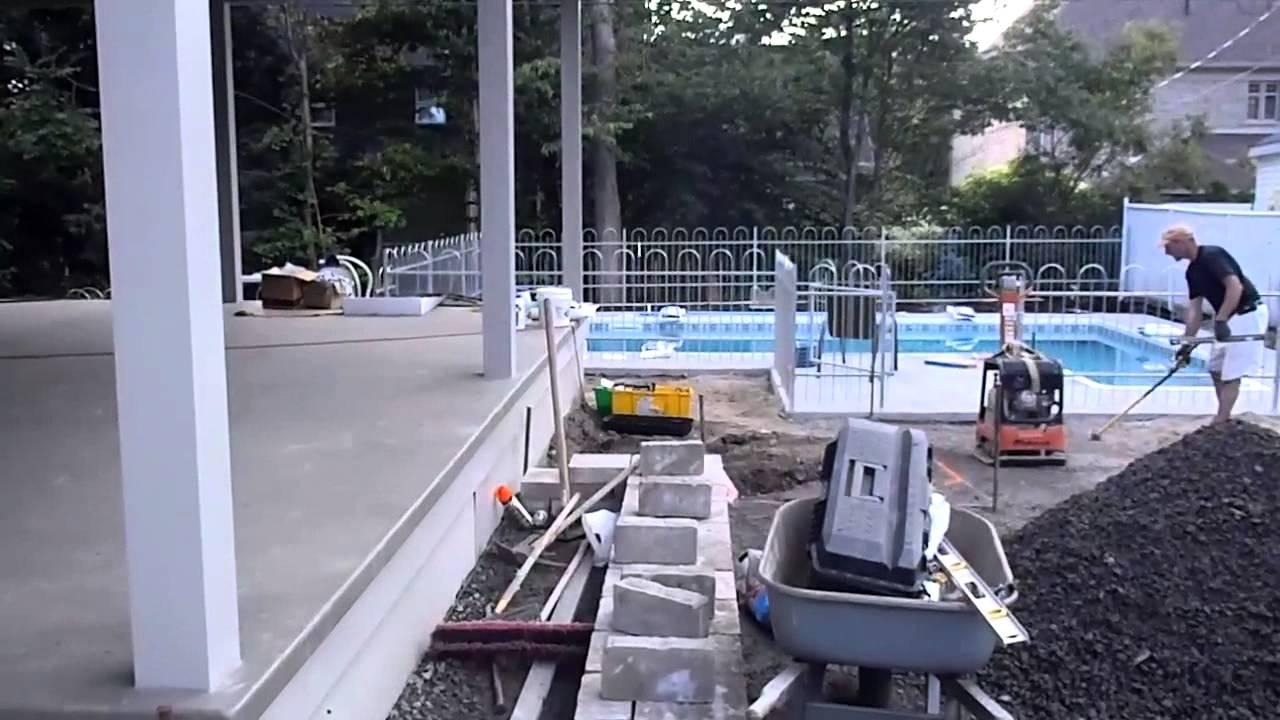 Installation de piscine creus e qu bec piscinier qu bec for Installation piscine creusee