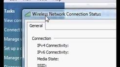 Find your computer Ip address in Windows Vista