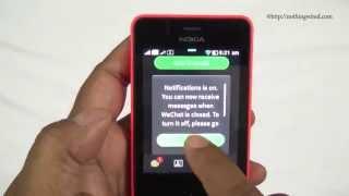 WeChat on the Nokia Asha 501