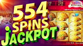 554 SPINS JACKPOT ALERT!!! Quest For Riches - 1c KONAMI Video Slots