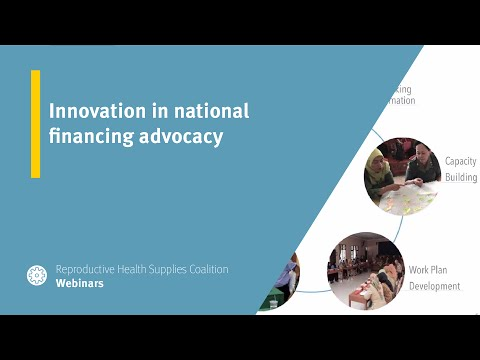 Innovation in national financing advocacy