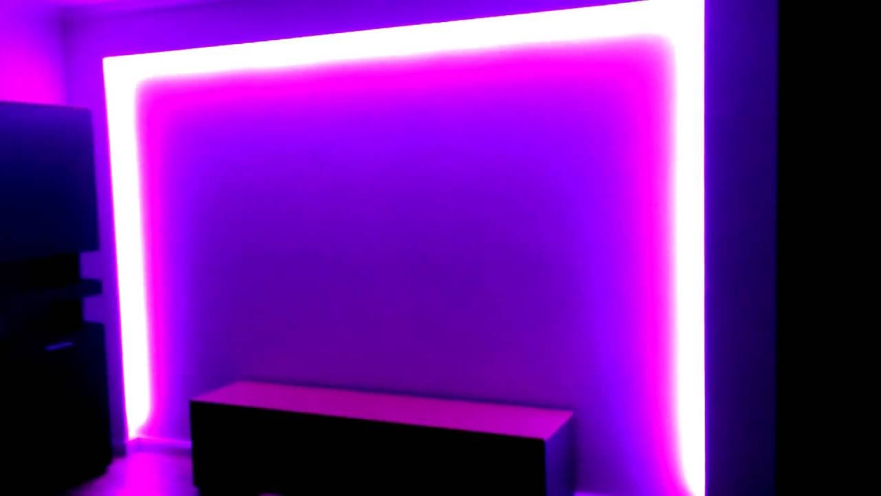 led strips 12v rgb mit trafo und fernbedienung indirektes licht 10m rolle youtube. Black Bedroom Furniture Sets. Home Design Ideas