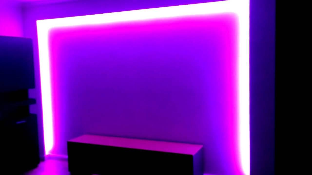 led strips 12v rgb mit trafo und fernbedienung. Black Bedroom Furniture Sets. Home Design Ideas