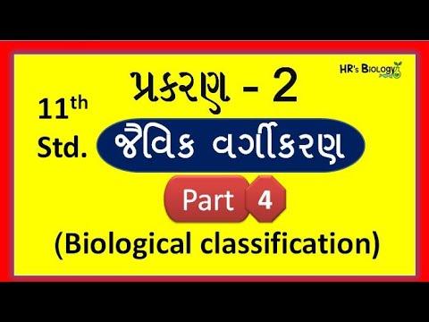 Std 11 Biology Chapter 2 Gujarati  Part 4  Biological Classification  Ncert  Hr's Biology