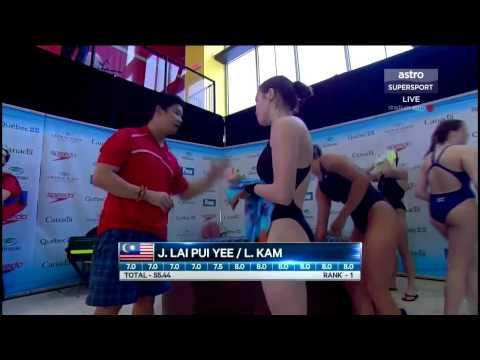 20150413 国际泳联跳水大奖赛加拿大站女子双人三米板