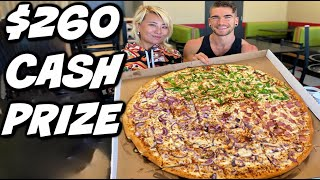 $260 Pizza Challenge In Kansas ! Giant Beast Pizza | Simple Simons | Man Vs Food