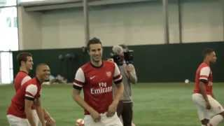 Arsenal Home Kit for 2012-13 Target Practice OFFICIAL VIDEO