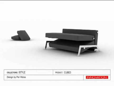 Cubed sofa bed from INNOVATION YouTube