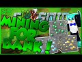 MINING FOR BANK AND MCMMO GRIND! CosmicPvP ICE Planet FACTIONS Season 3 #3