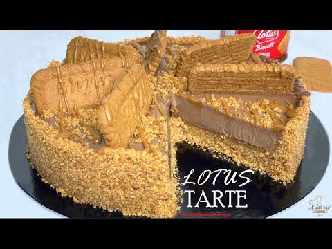 recette-tarte-lotus-au-chocolat-sans-cuisson-طريقة-تحظير-طورطة-اللوتس-بالشوكولاتة-بدون-فرن
