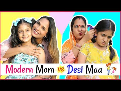 Modern Mom (मोम) vs Desi Maa (माँ) .... | #MyMissAnand #Sketch #Roleplay #ShrutiArjunAnand