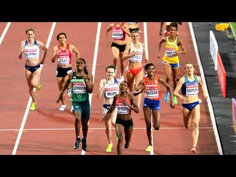 Meraf Bahta nia på 1500 meter på VM i London den 7 augusti 2017