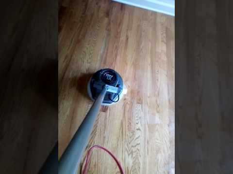 Polishing Hardwood Floors With Oreck XL Low Speed Buffer YouTube - How to buff a tile floor without a buffer