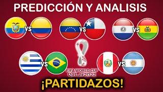 PREDICCIÓN y ANALISIS - ELIMINATORIAS CONMEBOL QATAR 2022 - FECHA 4