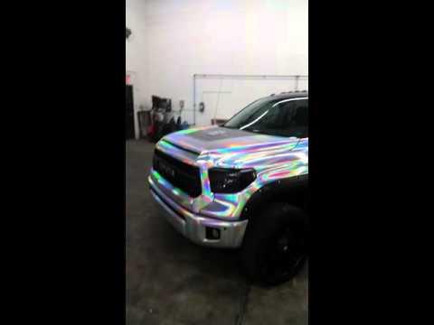 Wrap Haus Holographic Chrome Truck Wrap