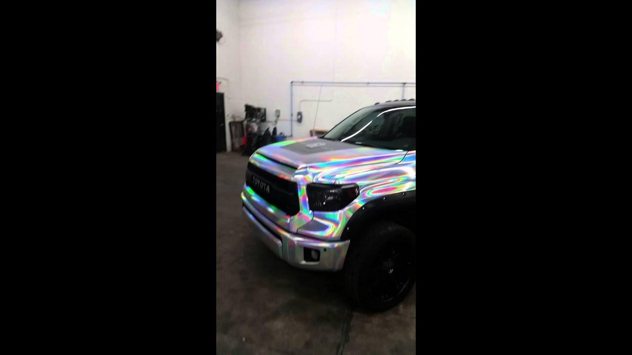 Vinyl Girlz Amp Wrap Haus Holographic Chrome Truck Wrap