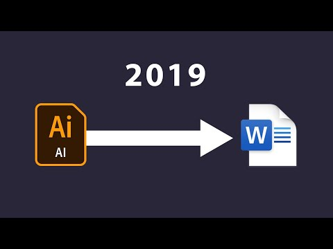 How To Convert Illustrator File To Microsoft Word File 2019