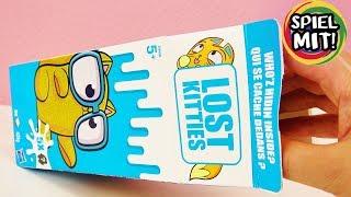 LOST KITTIES XXL MILCHKARTON Unboxing deutsch - 5X vermisste Kätzchen in Milchtüte auspacken Hasbro