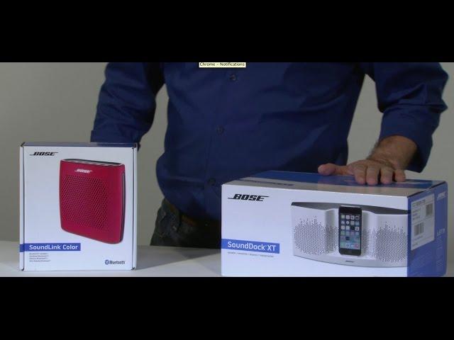 Bose SoundDock XT & SoundLink Color Bluetooth Speakers