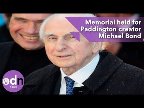 Memorial held for Paddington creator Michael Bond