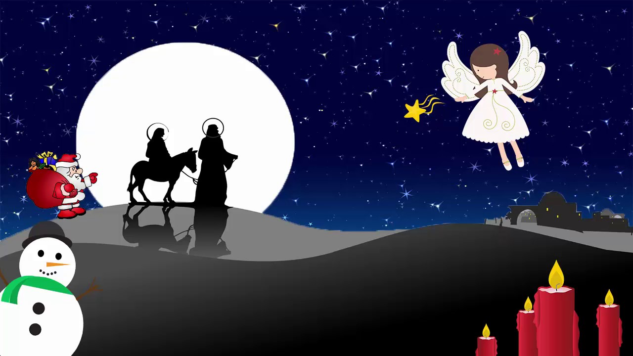 Silent Night Holy Night Children's Christmas Carol Songs - 1 Hour Repeat - YouTube