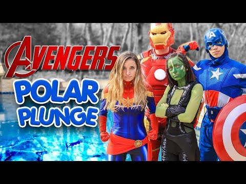 2019 POLAR PLUNGE Avengers Endgame | Brooklyn & Bailey