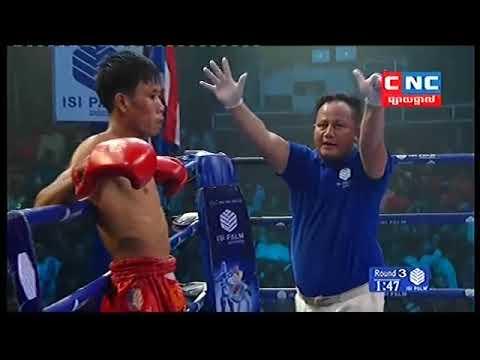 សុខ សាវិន Vs បុរ៉ុតអែក, Sok Savin, Cambodia Vs Burotek, Thai, Khmer Boxing 11 November 2018