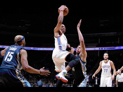 Russell Westbrook's 26 Points and 10 Assists Leads Thunder Over Wolves