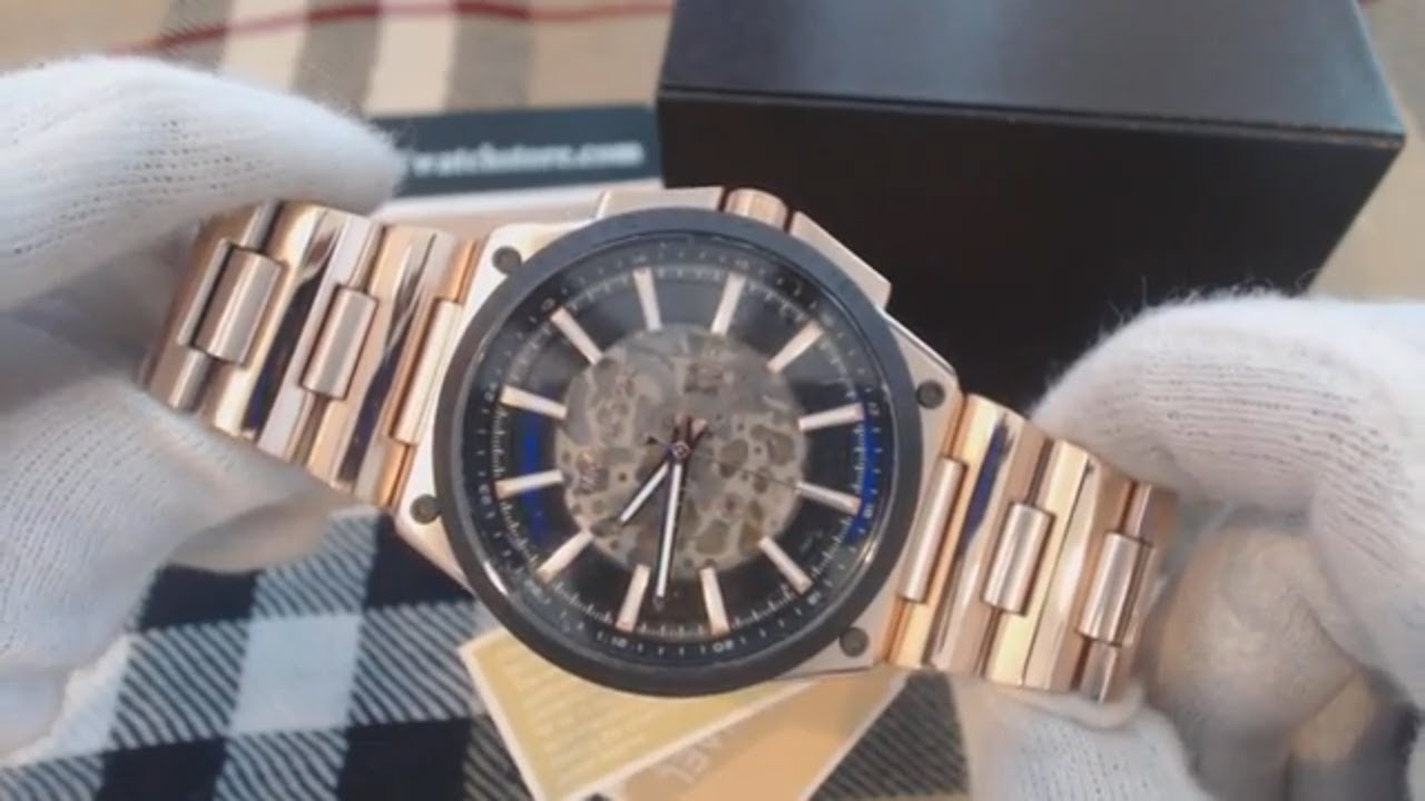 0c4d1f352734 Men s Michael Kors Wilder Automatic Rose Gold Watch MK9022 - YouTube