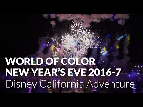 NEW World of Color New Year's Eve Celebration 2016-2017 at Disney California Adventure (Front Row)
