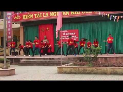 Nhảy Tiến lên Việt Nam ơi 10A1 My Duc B