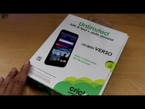 Alcatel Verso Unboxing (Cricket Wireless)