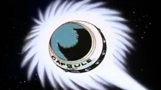 Ocean Goku flies through space while epic music plays