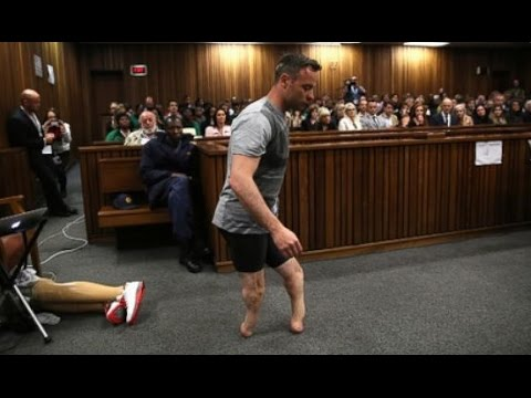 Oscar Pistorius Removes Prosthetic Legs in Court