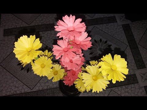How to Make Beautiful Paper Stick Flower Easily | DIY Stick Flower with Paper - SI TV 360