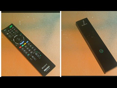 Sony Bravia TV Remote Control RM-ED044 Battery Replacement! How To Open And To Change The Batteries.
