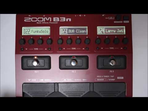 ZOOM B3N B3next Multi-Effects Processor for Bass PATCH 019-027
