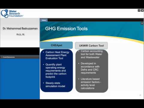 WRF Webcast: A Toolbox for Energy and Greenhouse Gas Management