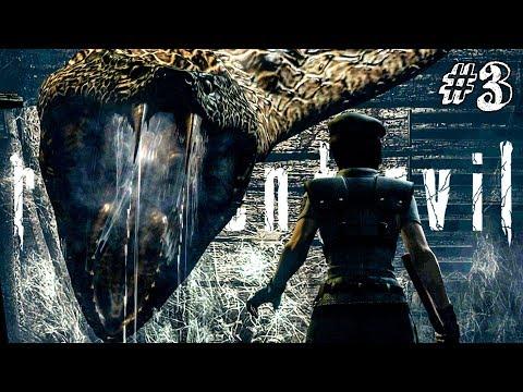 ОГРОМНАЯ ЗМЕЮКА! ► RESIDENT EVIL HD Remaster Прохождение #3 ► ХОРРОР ИГРА