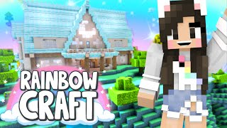 💙Building an Aether Vacation Home! Rainbowcraft Ep.23