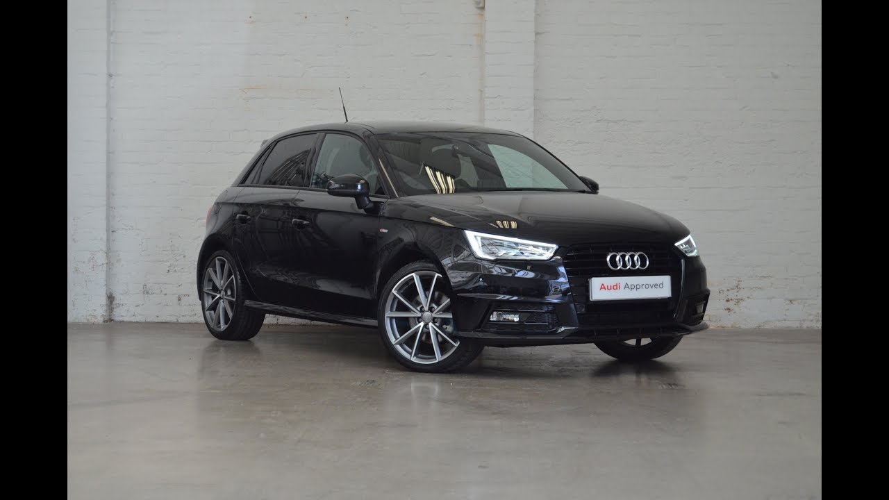 ky17hym audi a1 sportback tdi s line black edition black. Black Bedroom Furniture Sets. Home Design Ideas