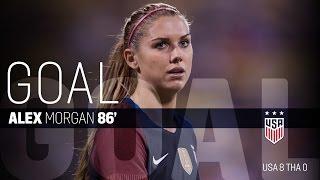 WNT vs. Thailand: Alex Morgan First Goal - Sept. 15, 2016