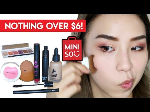 Testing Cheap Miniso Makeup! Nothing Over $6!